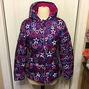 Faded Glory Hooded Puffy Child's Coat Size Xl